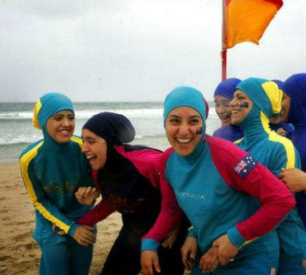 Do Russian women bathe in the burkini?