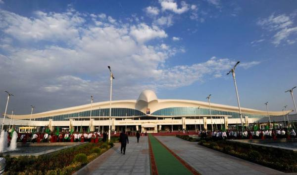 Turkmenistan opens 2.3 billion dollar bird-shaped international air terminal