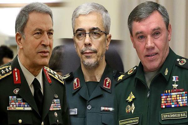 گفتگوی رؤسای ارتش ایران، روسیه و ترکیه در مورد سوریه