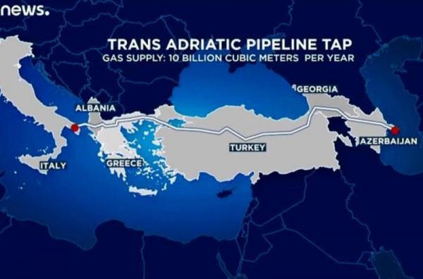 ساخت آخرین بخش خط لوله گازی ترانس آدریاتیک درایتالیا آغاز شد