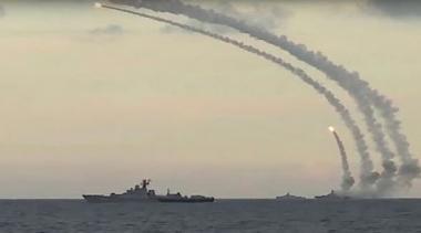 شلیک موشک های بالستیک روسیه از دریای خزر