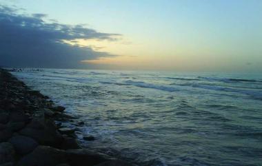 صبح خزری و صدای بسیار دلنشین دریای خزر (با صدا ببینید)