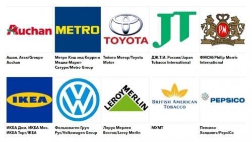 50 شرکت برتر خارجی در روسیه