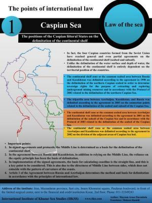 The points of international law, Caspian Sea – the positions of the Caspian littoral States on the delimitation of the continental shelf